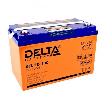 Delta GEL 12-100 (12В; 100А*ч)