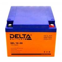 Delta GEL12-26  Аккумулятор гелевый (12В; 26А*ч)
