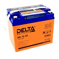 Delta GEL12-33  Аккумулятор гелевый (12В; 33А*ч)
