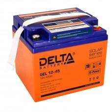 Delta GEL12-45 Аккумулятор гелевый (12В; 45А*ч)