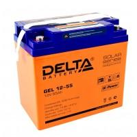 Delta GEL12-55  Аккумулятор гелевый (12В; 55А*ч)