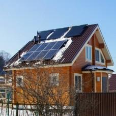 Сетевая солнечная электростанция мощность 1,5 кВт, выработка 12 кВт*ч