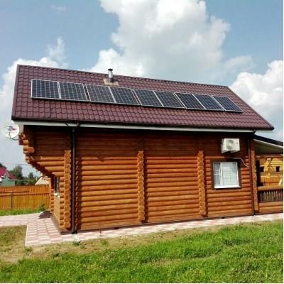 Сетевая солнечная электростанция мощность 2 кВт, выработка 15 кВт*ч