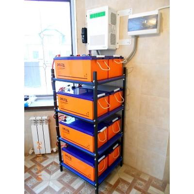 Мощная инверторно-аккумуляторная система электроснабжения на оборудовании Schneider Electric, Delta и стабилизаторах Lider