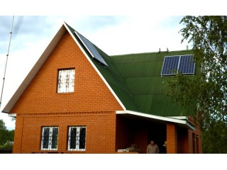 Солнечная электроэнергия в удаленном домохозяйстве Тверской области