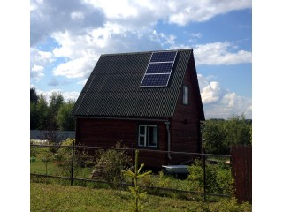 """""""Солнечный генератор"""" электроэнергии на даче. Московская область."""