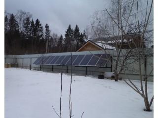 Сетевая солнечная электростанция установлена в частном домовладении Московской области