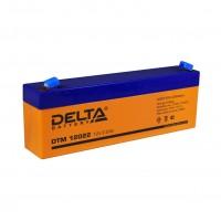 DTM 12022 (Delta АКБ) Аккумулятор AGM, 12В, 2.2 Ач