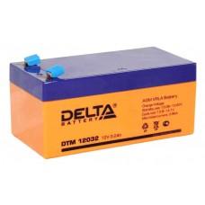 DTM 12032 (Delta АКБ) Аккумулятор AGM, 12В, 3.2 Ач