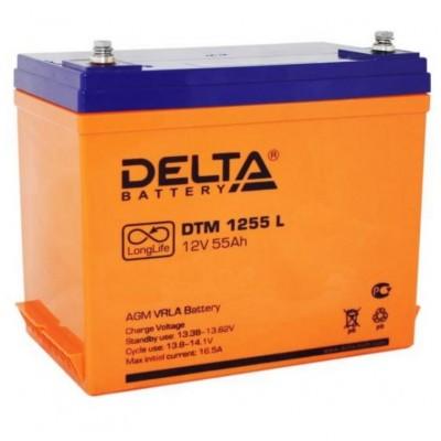 DTM 1255L (Delta) Аккумулятор AGM (12В; 55 Ач)