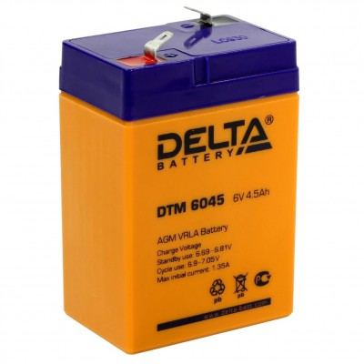 DTM 6045, AGM аккумулятор от Delta Battery