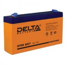 DTM 607 (Delta АКБ) Аккумулятор AGM (6В, 7Ач)