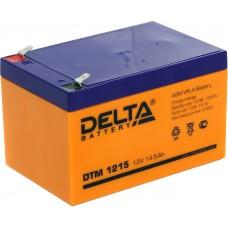 DTM 1215 (Delta АКБ) Аккумулятор AGM (12В; 15Ач)