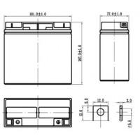 DTM 1217 (Delta АКБ) Аккумулятор AGM (12В; 17 Ач)