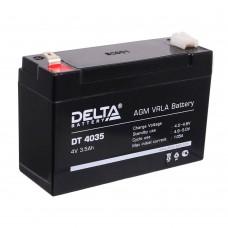 DT 4035 (Delta) Аккумулятор 4В; 3.5 Ач, AGM