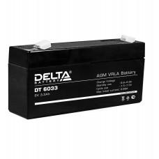 DT 6033 (125) (Delta) Аккумулятор 6В; 3.3 Ач, AGM