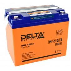 DTM 1275 I (Delta) AGM аккумулятор (12 В; 75 А*ч) с цифровым дисплеем