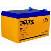 HR 12-15 (Delta) Аккумулятор 12В; 15 Ач, AGM