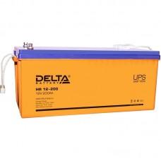 HR 12-200 L (Delta) Аккумулятор 12В; 200 Ач, AGM