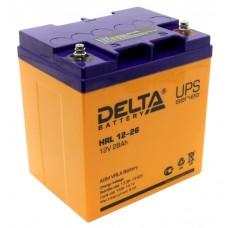 HR 12-26 (Delta) Аккумулятор 12В; 26 Ач, AGM
