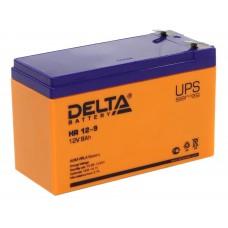 HR 12-9 (Delta) Аккумулятор 12В; 9 Ач, AGM
