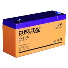 HR 6-15 (Delta) Аккумулятор 6В; 15 Ач, AGM