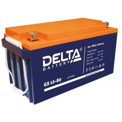 Delta GX12-80 (12В; 80А*ч) Гелевый аккумулятор