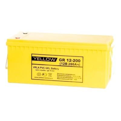 GR12-200 (200Ач, 12В) Гелевый аккумулятор PVC