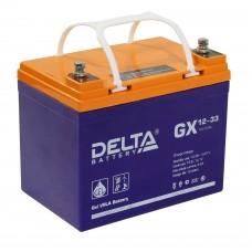 Delta GX12-33 (12В; 33А*ч) Гелевый аккумулятор