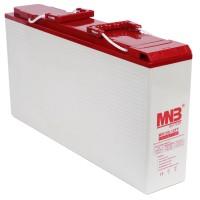 """MR 155-12FT (12В, 55А*ч) Фронттерминальный AGM аккумулятор для 19"""" стоек"""