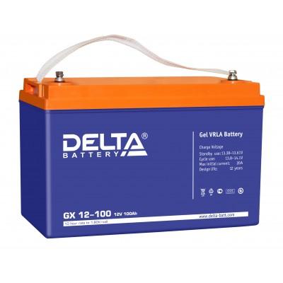 Delta GX12-100 (12В; 100А*ч) Гелевый аккумулятор