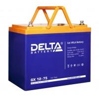 Delta GX12-75 (12В; 75А*ч) Гелевый аккумулятор