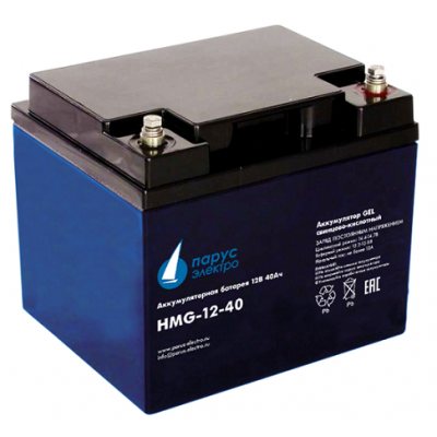 """HMG-12-40 """"Парус Электро"""" (12В; 90А*ч)"""