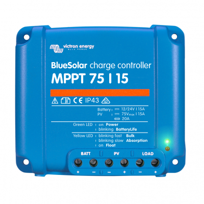 BlueSolar MPPT 75/15 (12/24V-15A) Контроллер солнечный MPPT Victron Energy
