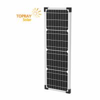 TPS-105S(36)-20W солнечный модуль монокристалл 20 Вт  TOPRAY Solar