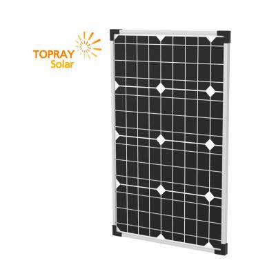 TPS-105S(36)-40W солнечный модуль монокристалл 40 Вт  TOPRAY Solar