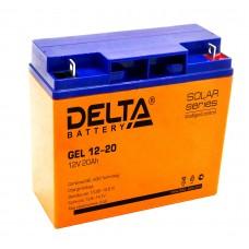 Delta GEL12-20  Аккумулятор гелевый (12В; 20А*ч)