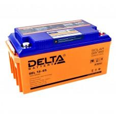 Delta GEL12-65  Аккумулятор гелевый (12В; 65А*ч)