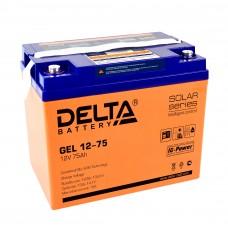 Delta GEL12-75  Аккумулятор гелевый (12В; 75А*ч)