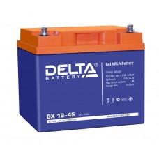 Delta GX12-45 (12В; 45А*ч) Гелевый аккумулятор