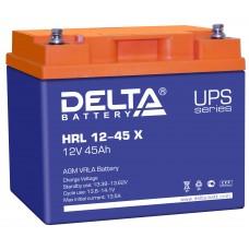 HRL 12-45 X (Delta) Аккумулятор 12В; 45 Ач, AGM