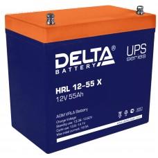 HRL 12-55 X (Delta) Аккумулятор 12В; 55 Ач, AGM