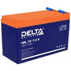 HRL 12-7.2 X (Delta) Аккумулятор 12В; 7.2 Ач, AGM