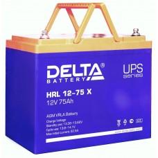 HRL 12-75 X (Delta) Аккумулятор 12В; 75 Ач, AGM