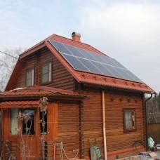 Сетевая солнечная электростанция мощность 3 кВт, выработка 18кВт*ч