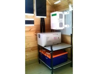 Система бесперебойного электроснабжения с дополнительной стабилизацией электросети на базе инвертора Schneider Electric. Московская область.