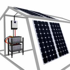 СВЕТ НА ДАЧЕ Мощность 1.6 кВт Емкость 400А*ч Сол.батарея 4*200Вт