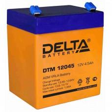 DTM 12045 (Delta АКБ) Аккумулятор AGM, 12В, 4.5 Ач