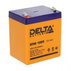 DTM 1205 (Delta АКБ) Аккумулятор AGM (12В; 5 Ач)