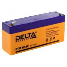 DTM 6032 (Delta АКБ) Аккумулятор AGM (6В, 3.2Ач)